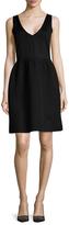 Balenciaga Textured Skirt Fit And Flare Dress