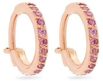 Ileana Makri Sapphire & pink-gold earrings