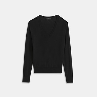 Theory Regal Wool V-Neck Pullover