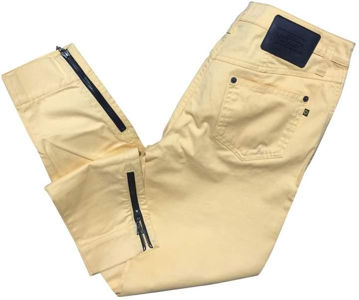 Louis Vuitton Yellow Cotton Trousers for Women