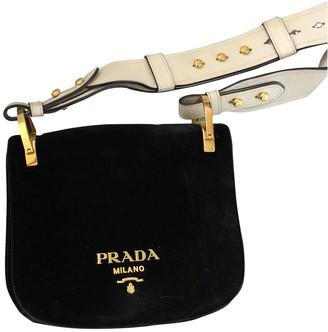 Prada PionniAre Black Suede Handbags