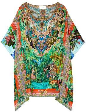 Camilla The Caravan Crystal-embellished Silk Crepe De Chine Coverup