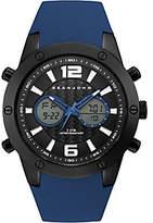 Sean John Men's Analog Digital Blue Silicone Watch