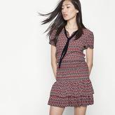 Maje Printed ruffled dress