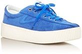 Tretorn Tretron Nylite Bold Perforated Lace Up Platform Sneakers