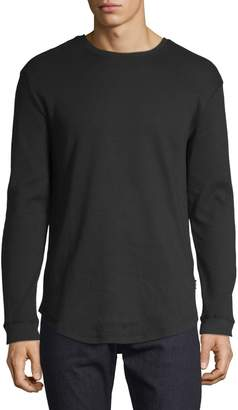 ONLY & SONS Waffle Long-Sleeve Cotton Sweatshirt