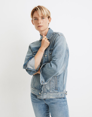 Madewell The Oversized Trucker Jean Jacket in Akenside Wash