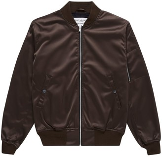 Alistair Grey Wine Satin Bomber