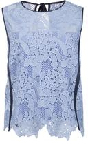 MSGM contract trim lace tank - women - Polyester - 42
