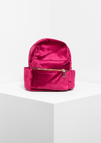 Missy Empire Cara Hot Pink Velvet Mini Backpack