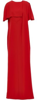 Chalayan Cape-effect Draped Satin-crepe Gown