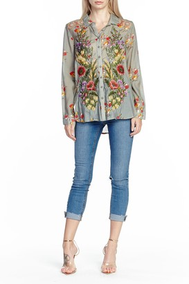 Aratta Mia Grace Floral Embroidered Blouse