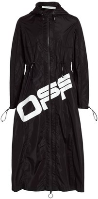 Off-White Hooded Drawcord Jacket