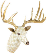 Mackenzie Childs MacKenzie-Childs Parchment Check Deer Head