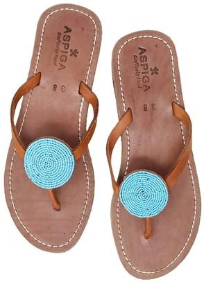 Aspiga Disc Sandals Turquoise
