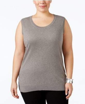 August Silk Plus Size Sleeveless Shell