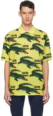 Lacoste Yellow Chinatown Market Edition Big Croc Polo