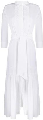 Ermanno Scervino Lace-Trimmed Poplin Shirt Dress