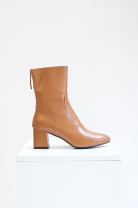 Collection & Co - Alexa Tan Ankle Boots - 35 / Tan