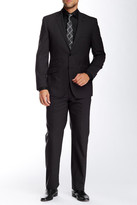 English Laundry Checkered Two Button Notch Lapel Wool Suit