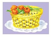 "Buyenlarge ""Sugar Basket With Tulips"" Print (Canvas 20x30)"