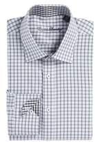 English Laundry Men's Trim Fit Plaid Dress Shirt