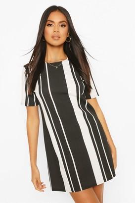 boohoo Mixed Stripe Shift Dress