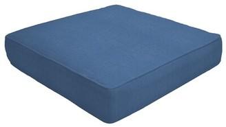 "Eddie Bauer Double Piped Indoor/Outdoor Sunbrella Ottoman Cushion Fabric: Canvas Regatta, Size: 5"" H x 26"" W x 24"" D"