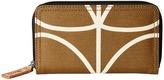 Orla Kiely Matt Laminated Giant Linear Stem Print Big Zip Wallet