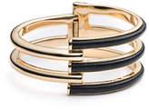Trina Turk Sunset Leather Hinged Bangle Bracelet
