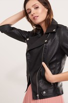 Dynamite Faux Leather Moto Jacket with Zips