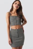 NA-KD Co-ord Check Mini Skirt