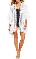 LaBlanca La Blanca Costa Brava Crochet Kimono Cover-Up