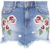 Free People WILD ROSE Mini skirt light denim