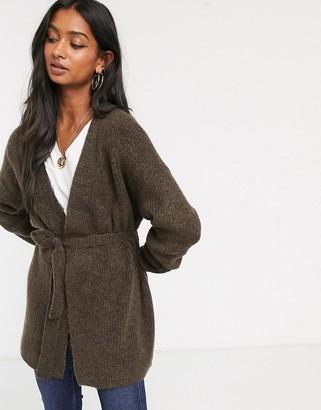 Micha Lounge wrap front cardigan-Brown