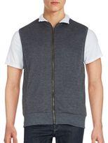 Saks Fifth Avenue BLACK Ribbed Zip-Front Vest