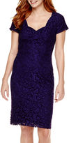 Liz Claiborne Short-Sleeve Lace Sheath Dress