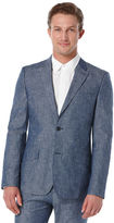 Perry Ellis Slim Fit Denim Chambray Suit Jacket
