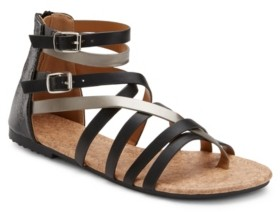 OLIVIA MILLER Modern Romance Two Tone Sandals Women's Shoes