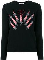 Valentino Love Blade intarsia sweater