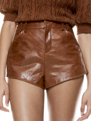 Alice + Olivia Cady Leather Short