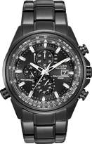Citizenx Citizen #AT8025-51E Men's Eco Drive Atomic World Time A-T Black IP Stainless Steel Chronograph Watch