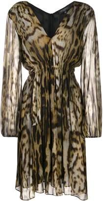 Antonelli leopard print fitted midi dress