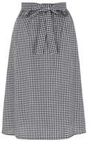 George Gingham Bow Front A-Line Skirt