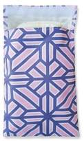 Tiny-Tote-Along Geometric Floral Print Diaper Bag in Pink/Blue