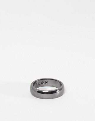 ICON BRAND band ring in gunmetal