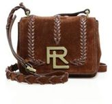 Ralph Lauren Mini RL Whipstitched Suede Crossbody Bag