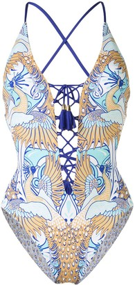 Paolita Phoenix reversible laced swimsuit