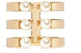 Chloé 'Darcey' three row Swarokvski pearl ring