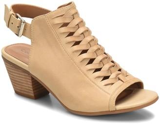 Comfortiva Woven Leather Sandals - Alanna